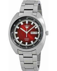 Seiko - 5 'turtle' Sports 100m Watch Red Gradation Dial Srpb17k1 - Lyst