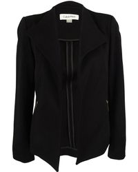 Calvin Klein - Long Sleeve Open Front Jacket - Lyst