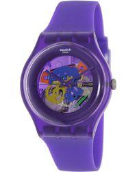 Swatch - Originals Suov100 Plastic Swiss Quartz Watch - Lyst