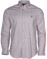 Polo Ralph Lauren   Twill Button Down Shirt-darkmagen-medium   Lyst