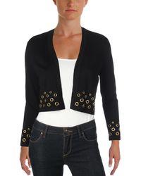 Calvin Klein - Grommet Open Front Cardigan Sweater - Lyst