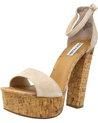 f30c04caa693 Steve Madden - Gonzo Suede Nude Ankle-high Pump - 9.5m - Lyst