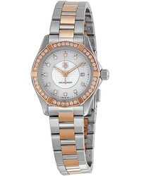Tag Heuer - Aquaracer Mother Of Pearl Dial Ladies Watch Wap1452.bd0837 - Lyst