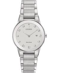 Citizen - Women's Eco-drive Axiom Diamond Accent Stainless Steel Bracelet Watch 30mm Ga1050-51b - Lyst