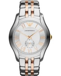 Emporio Armani - Unisex Two-tone Stainless Steel Bracelet Watch 43mm Ar1844 - Lyst