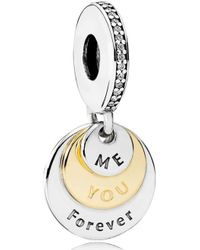 Pandora | You & Me Forever Pendant Charm | Lyst