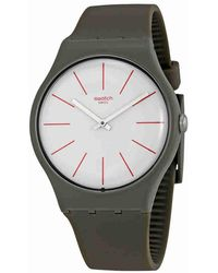 Swatch - Greensounds White Dial Grey Brown Watch Suoc107 - Lyst