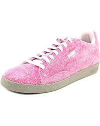PUMA - Match Lo Elemental Women Round Toe Canvas Pink Sneakers - Lyst