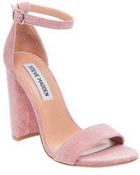 9e42844e3ad Lyst - Steve Madden Landen Ankle Strap Sandal in Gray