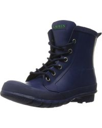 Lauren by Ralph Lauren - Lauren By Ralph Lauren Mikenna Rubber Closed Toe Ankle Rainboots - Lyst