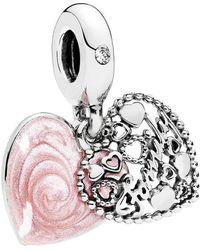 Pandora   Love Makes A Family Dangle Charm   Lyst