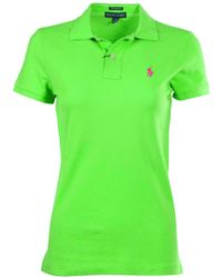 Polo Ralph Lauren - Classic Fit Mesh Pony Shirt-racing Green-small - Lyst