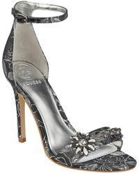 Guess | Partyer Metallic Ankle-strap Heels | Lyst
