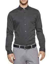 Calvin Klein - Crepe Twill Button Up Shirt - Lyst