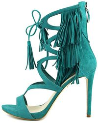Guess - Abria Open Toe Casual Ankle Strap Sandals Suede - Lyst
