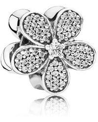 PANDORA - Dazzling Daisy Charm In 925 Sterling Silver W/clear Cubic Zirconia - Lyst