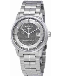e9eff4240643 Tissot - Luxury Anthracite Dial Automatic Watch T086.407.11.061.10 - Lyst