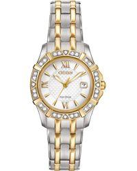 Citizen - Women's Eco-drive Diamond Accent Two-tone Stainless Steel Bracelet Watch 26mm Ew2364-50a - Lyst