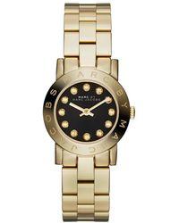 Marc By Marc Jacobs - Amy Mini Mbm3336 Gold/ Analog Quartz Watch - Lyst