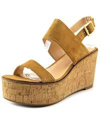 96054736d04 Steve Madden - Caytln Women Us 11 Tan Wedge Sandal - Lyst