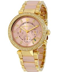 146c0a8be38a Lyst - Michael Kors Parker Watch in Metallic
