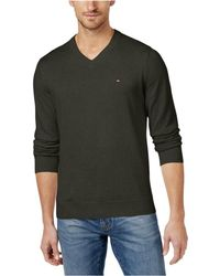Tommy Hilfiger - Signature Solid V-neck Sweater - Lyst