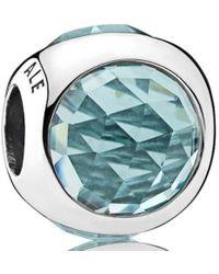 PANDORA - Icy Green Radiant Droplets Charm - Lyst