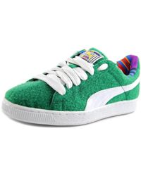 PUMA - Basket X Dee & Ricky Cr Women Round Toe Synthetic Green Sneakers - Lyst