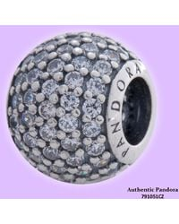 PANDORA - Clear Pave Lights Charm With Clear Cubic Zirconia In 925 Sterling Silver - Lyst