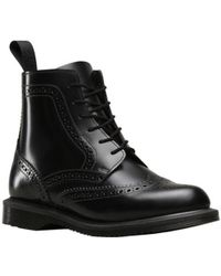 Dr. Martens | Delphine Brogued 6-eye Boot | Lyst