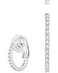 Swarovski - Vittore Pierced Earrings - White - Rhodium Plating - 5382029 - Lyst