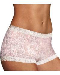 Maidenform - 40760 Microfiber And Lace Boyshort Panty - Lyst