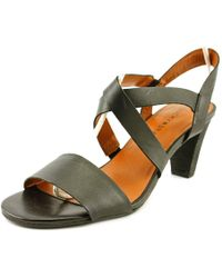 b95e33ce4972 Lyst - Naot Myth Open Toe Leather Sandals in Black
