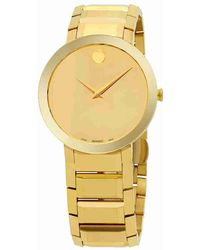 Movado - Sapphire Gold Mirror Dial Watch 0607180 - Lyst