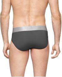 Calvin Klein - Steel Micro Hip Briefs In - Lyst