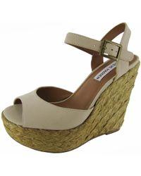 9fecaf34ac85 Steve Madden - Womens  chieeff  Platform Wedge Sandal Shoe - Lyst