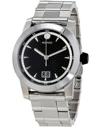 6537e82a3 Movado Bold Dial Stainless Steel Watch 3600512 in Black for Men - Lyst