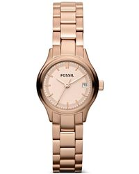 Fossil - Archival Mini Three Hand Stainless Steel Watch Rose Es3167 - Lyst