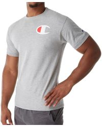 cada0c823 Champion Classic Jersey Ringer Tee, Big C Logo in White for Men - Lyst