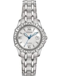 Citizen - Women's Eco-drive Diamond Accent Stainless Steel Bracelet Watch 26mm Ew2360-51a - Lyst