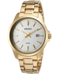 Seiko - Watches Mens 42 Mm Neo Classic Two-tone Stainless Steel Watch - Lyst