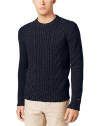 Tommy Hilfiger - Men's Finn Fisherman Crewneck Sweater - Lyst