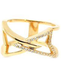 Kaych Fine Jewellery - Long Wing Ring Yellow Gold - Lyst
