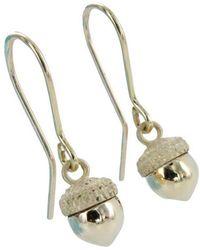 Reeves and Reeves - Gold Acorn Earrings - Lyst