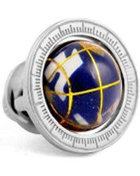 Tateossian - Sterling Silver Globe Cage Pin | - Lyst