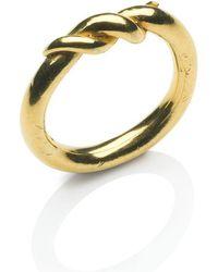 Naomi Tracz Jewellery - Twist Ring Gold Plate - Lyst