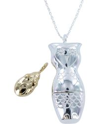 Reeves and Reeves - Owl And Pussy Cat Necklace - Lyst