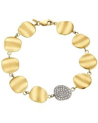 Sandy Leong - Origin Signature Bracelet With Diamond Pave Link - Lyst