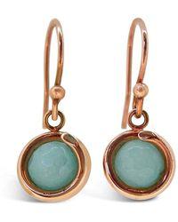 Maree London - Rose Gold Aqua Jade Drop Earrings - Lyst