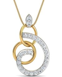 Diamoire Jewels Diamond and 14kt Yellow Gold Pave Pendant iTvzkmhok